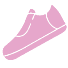 Pink shoe icon