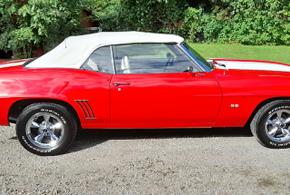 69 Camaro Red