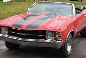 Red Chevelle SS Convertible