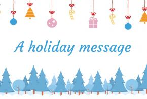 A holiday message 2018